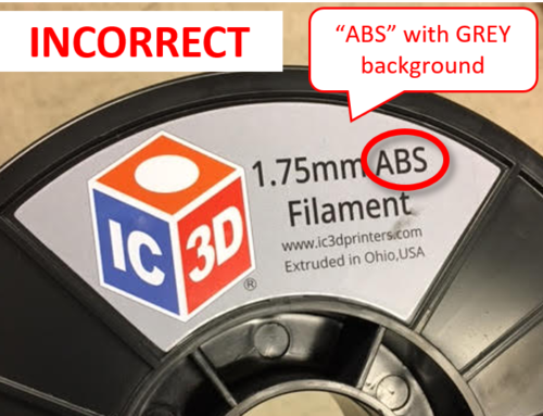 INCORRECT Label Issue : PLA 2lb 1.75mm